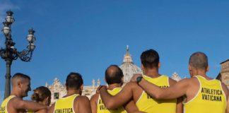 messa del maratoneta, maratona di roma, athletica vaticana