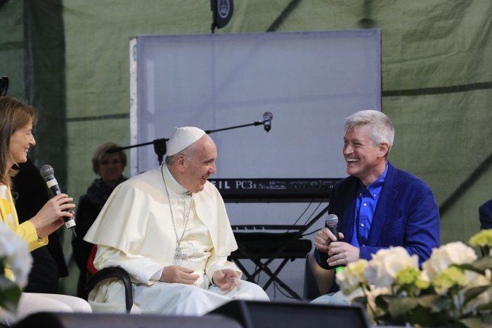 Pierluigi Sassi con Papa Francesco